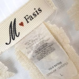 M Fasis Sweaters - M Fasis Open Front Cardigan Lace Panel size L
